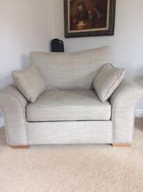 Next Garda light mink snuggle chair