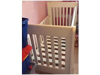 John Lewis solid white wood cotbed
