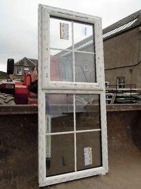 UPVC window top hung sash