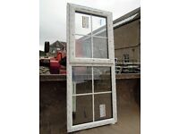 UPVC window top hung sash