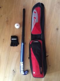 Mercian hockey stick and accessories