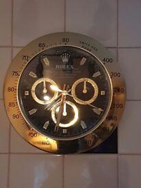 rolex display clock