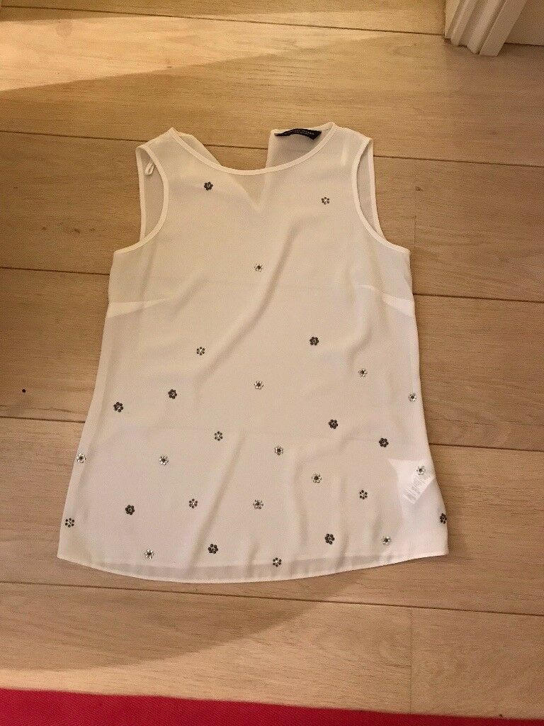 Dorthy Perkins size 8 White evening top
