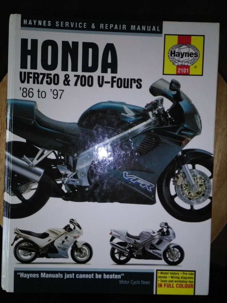 HAYNES WORKSHOP MANUAL for HONDA VFR750 & 700 V-FOURS