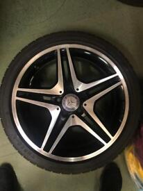 Merecedes AMG alloys & tires x4 £800 including postage. FULLY REFURBISHED