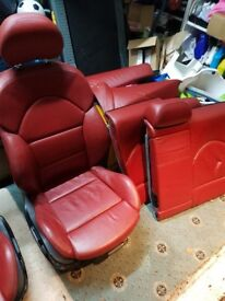 BMW M3 Red Leather Seats E46