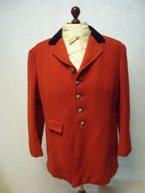 """Gents 46"""" Red Hunt Coat Made By Bernard Weatherall -"""