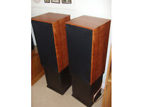 Harbeth SHL5 loudspeakers in Cherry - mint with original boxes and stands.