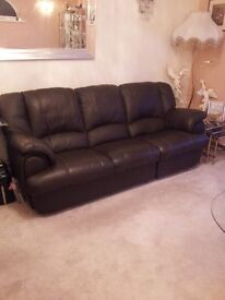 three seater settee with two recliners
