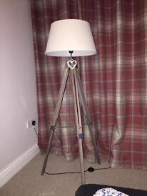 Lovely Natural Adjustable Tripod Lamp Only 6 Months Old