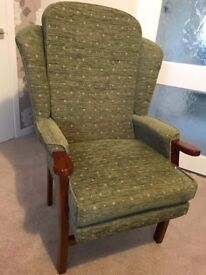 Wing Back Armchair great condition .....moved home now surplus to requirements.