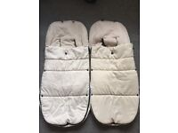 Bugaboo Donkey off white Footmuff x 2 - will sell separate