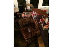 Rocking chairs both solid