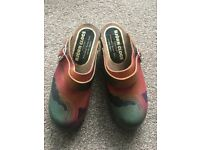 Brand New Bjorn, Swedish, Women's Rainbow Clogs/ Shoes Size 4 - 5 (37 - 38)