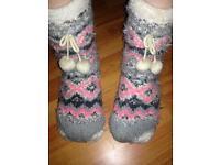 Well worn socks shoes