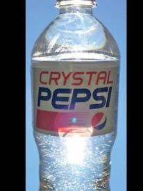 Crystal Pepsi rare discontinued Nov 2017