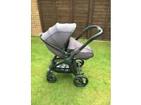 Egg Pram Stroller - Storm Grey with Gunmetal Frame