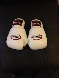 Twins boxing gloves ,sandee open head guard