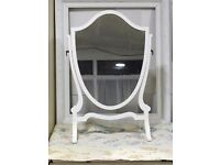 Dressing table mirror old solid wood - refurbed