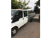 Ford transit pickup crew cab XLWB make good recovery truck or could be converted back to tipper