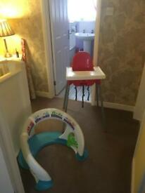 Fisher price light bar and high chair