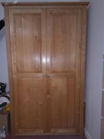 Large Wardrobe - Solid Wood (Ash) - Excellent Condition