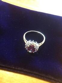 Beautiful designer dress ring size R
