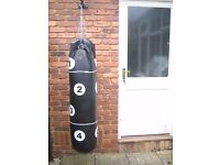 Black and White large punch bag come with bracket for wall