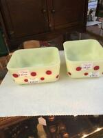 RARE ..Red Dot custard dishes