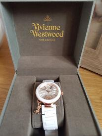 Vivienne Westwood White/Rose Gold Ceramic Watch