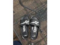 Black Reebok sliders - Size 9
