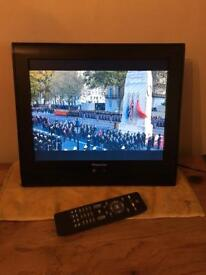 "15"" flatscreen digital TV"