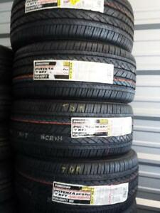 BRAND NEW ULTRA HIGH PERFORMANCE RUNFLAT BRIDGESTONE POTENZA '  V ' RATED 245 / 45 / 17 ALL SEASON TIRE SET OF FOUR.