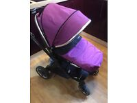 Oyster 2 pushchair (suitable from birth) and recling kiddy car seat