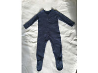 Baby grow blackish blue heart design size 18-24 months George made in Sri Lanka.