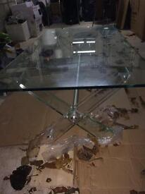Glass designer coffee table