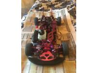 Hpi rs4 nitro rc car drift rolling chassis