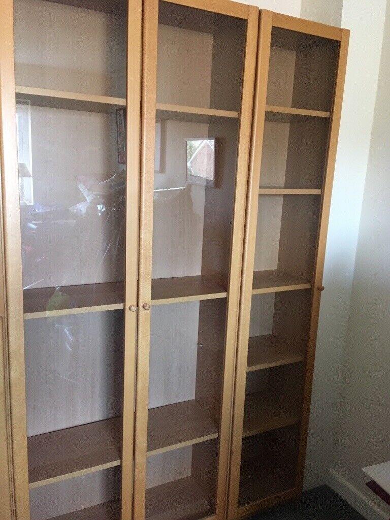 Ikea Billy Bookcase With Glass Doors In Exeter Devon Gumtree