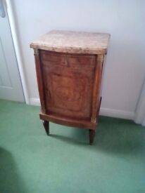 French Marble cabinet or Bedside Cabinet