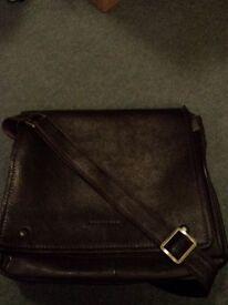 Unisex chocolate real leather laptop bag/satchel