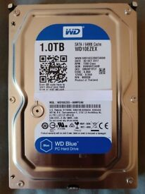 Western Digital WD WD10EZEX Blue 1TB 7200RPM 2017 MODEL