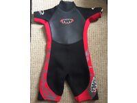 Kids Shortie Wetsuit (TWF) - Red/Black Size K10 (9-10 years - see sizing below)
