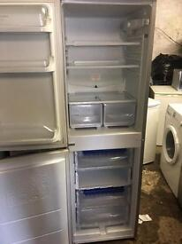 Silver fridge freezer hot point ice diamond