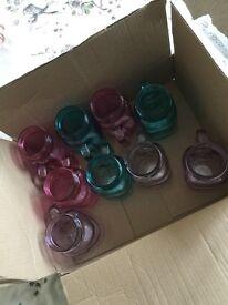 Job Lot 9 Unused Mason Drinking Jars