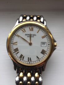 Raymond Weil used watch. Excellent condition. Swiss made. No longer required.