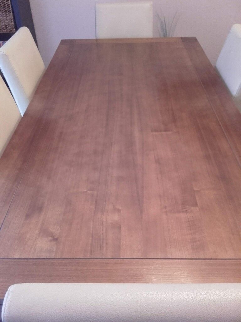 Rectangle Dining Table In Walnut With