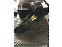 BRAND NEW black ladies shoes - high heels with sequins - night out and Xmas party! 8 / 41 ODEON