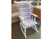 Lovely solid wooden rocking chair