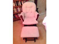 Nursing chair/glider with ottoman