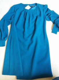 Debenhams Petrol Blue Tunic/Swing style dress size 14 BNTW